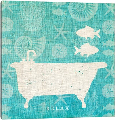 Pacific Bath I Canvas Art Print