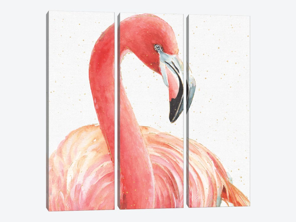 Gracefully Pink II by Lisa Audit 3-piece Canvas Wall Art