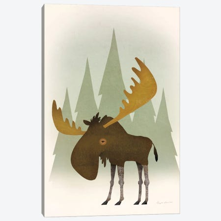 Forest Moose Canvas Print #WAC5882} by Ryan Fowler Canvas Wall Art