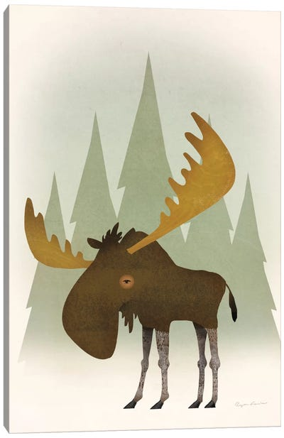 Forest Moose Canvas Print #WAC5882
