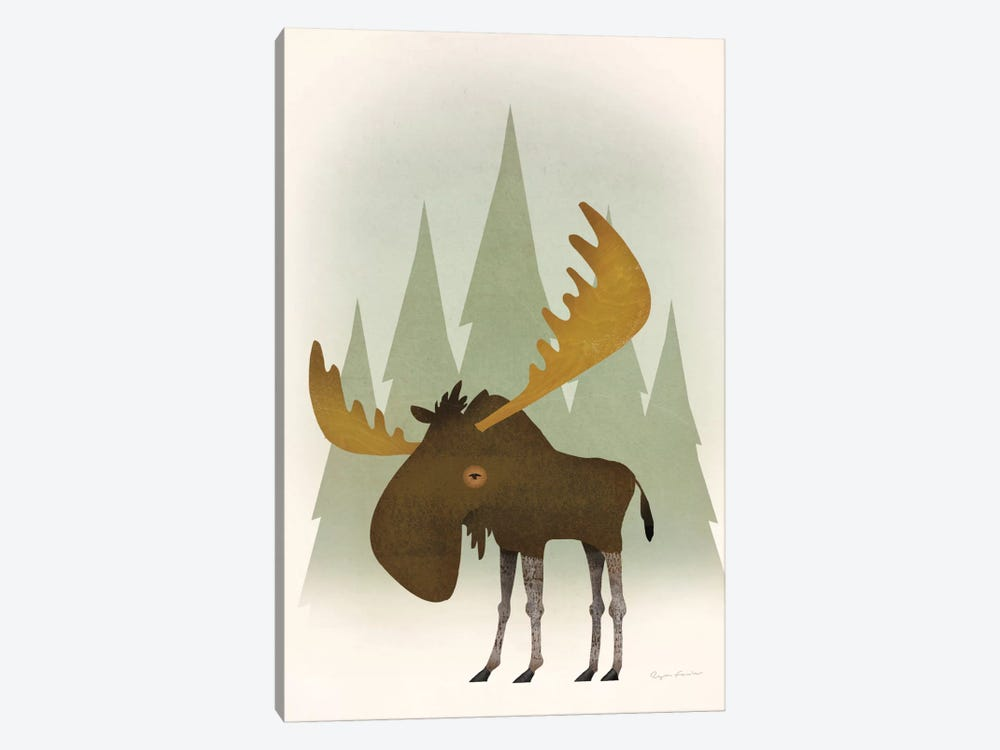 Forest Moose by Ryan Fowler 1-piece Art Print