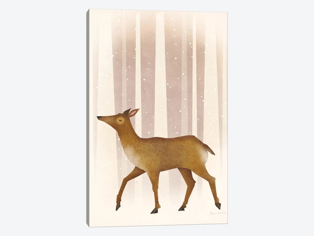 Snowy Doe by Ryan Fowler 1-piece Canvas Artwork