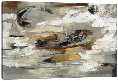 Neutral & Gray Abstract Canvas Art Print