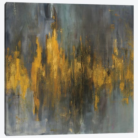 Black & Gold Abstract Canvas Print #WAC5887} by Danhui Nai Canvas Print