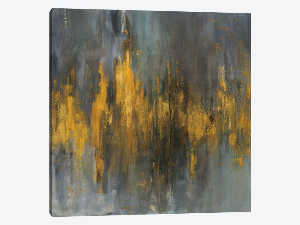 Black & Gold Abstract by Danhui Nai 1-piece Canvas Artwork