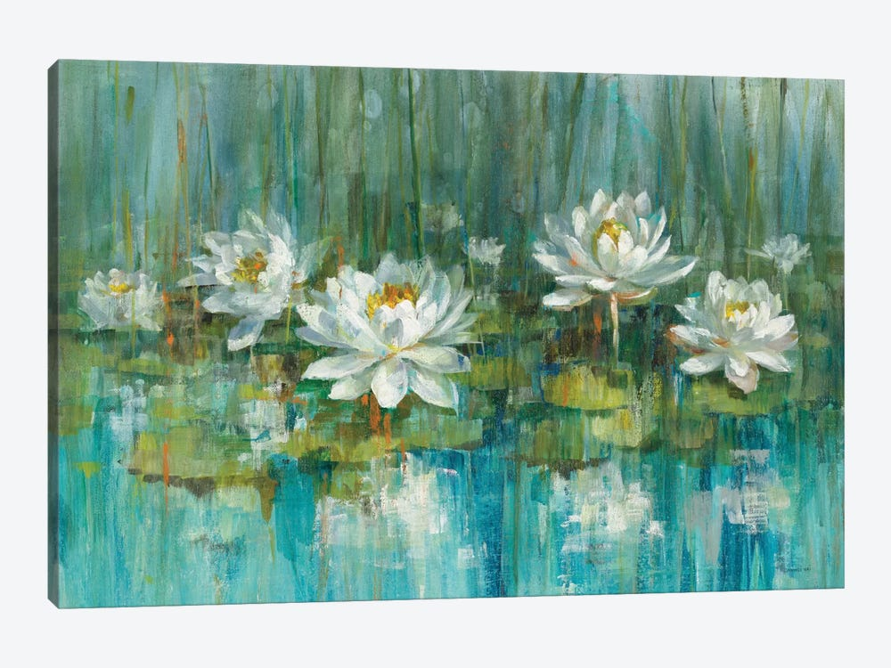 Water Lily Pond by Danhui Nai 1-piece Canvas Artwork