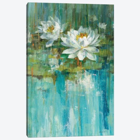 Water Lily Pond Panel I Canvas Print #WAC5893} by Danhui Nai Art Print