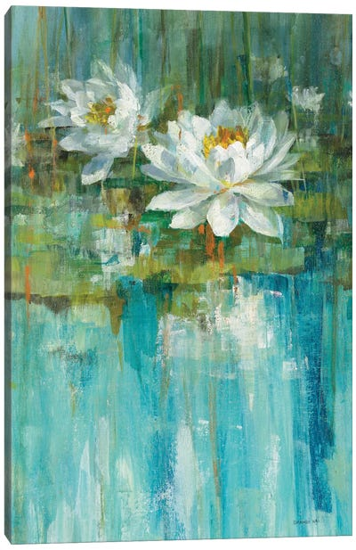 Water Lily Pond Panel I Canvas Print #WAC5893