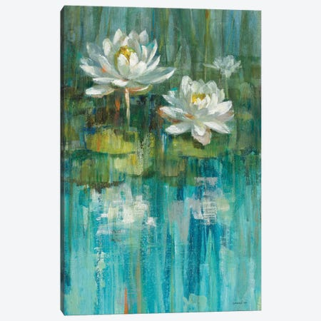 Water Lily Pond Panel II Canvas Print #WAC5894} by Danhui Nai Canvas Artwork