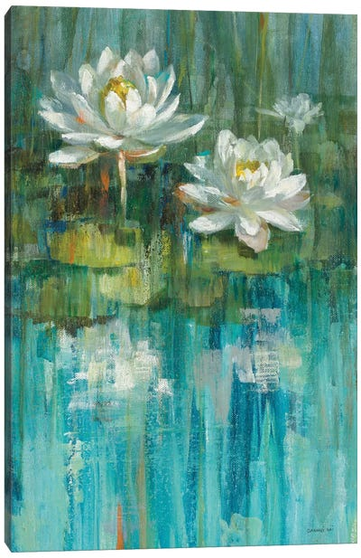 Water Lily Pond Panel II Canvas Print #WAC5894