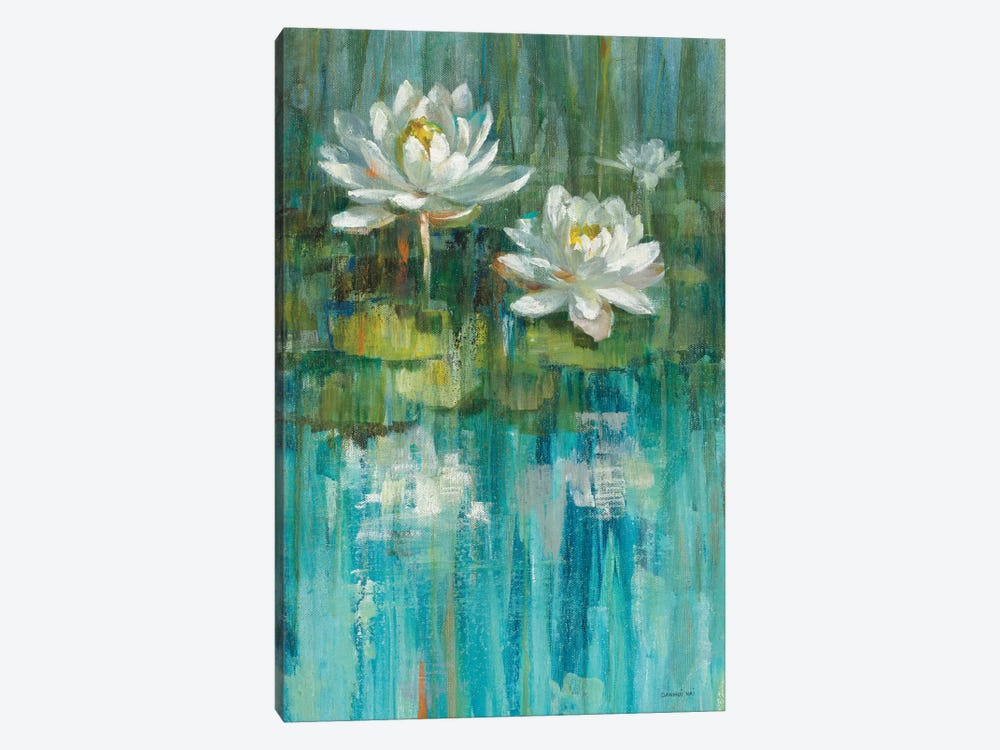 Water Lily Pond Panel II by Danhui Nai 1-piece Canvas Artwork