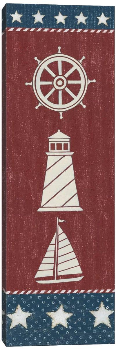 Coastal Americana Panel II Canvas Art Print