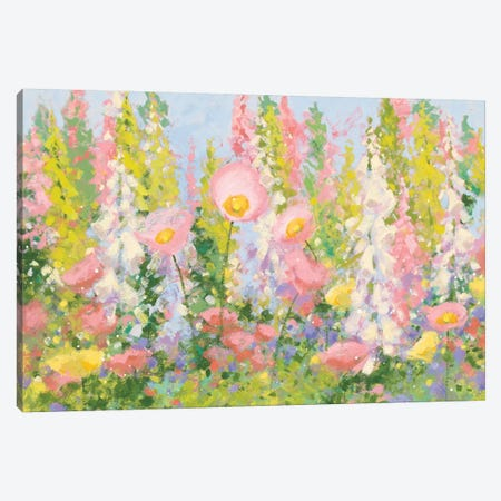 Garden Pastels I Canvas Print #WAC5939} by Shirley Novak Canvas Art