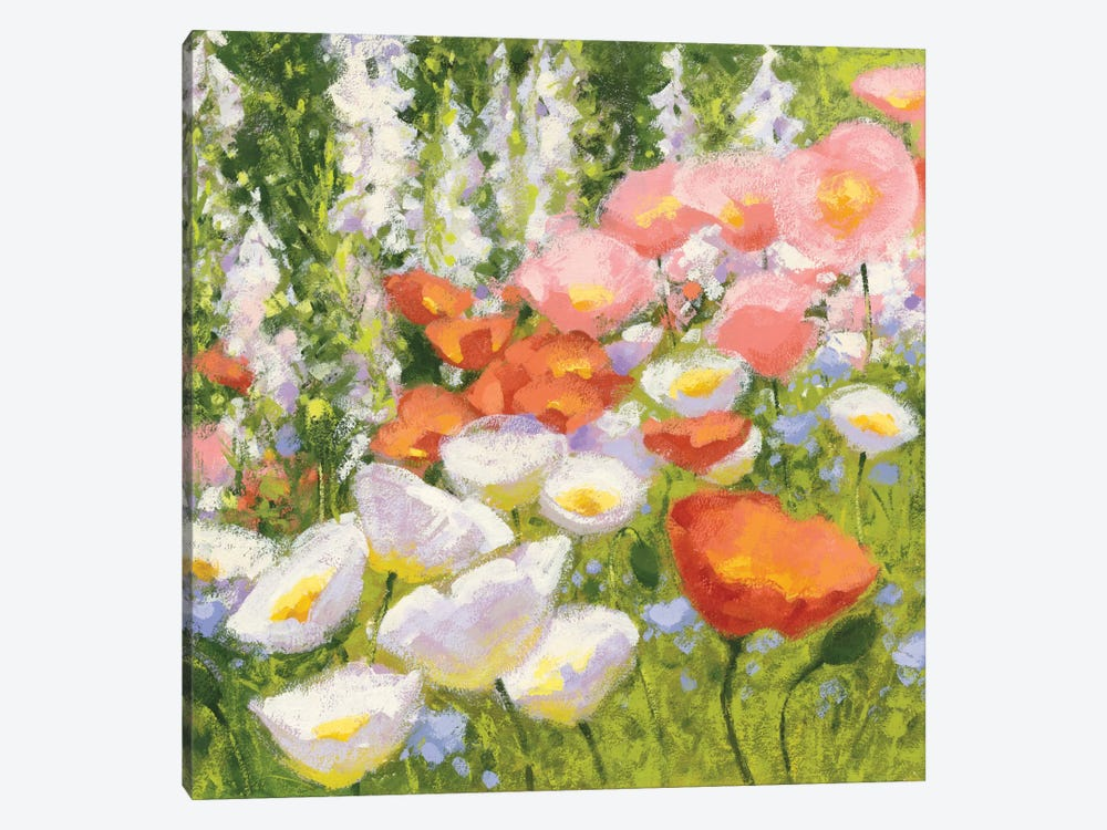 Garden Pastels II by Shirley Novak 1-piece Canvas Wall Art