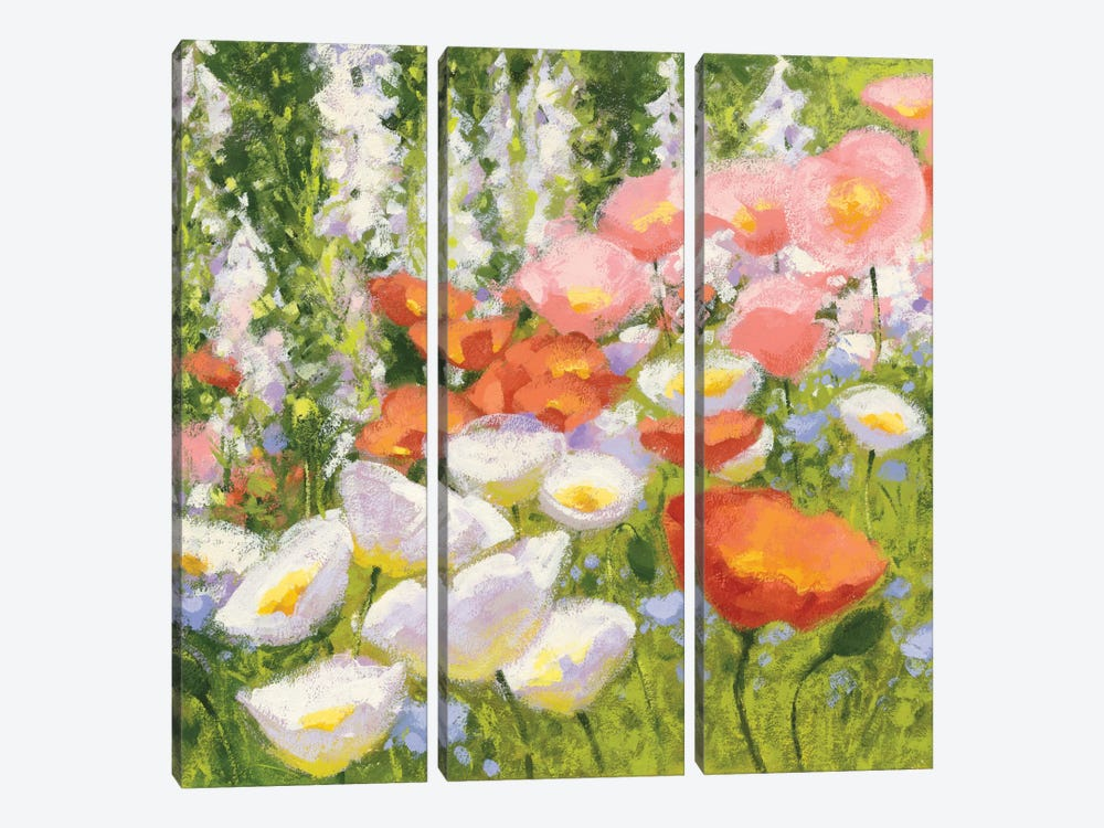 Garden Pastels II by Shirley Novak 3-piece Canvas Artwork