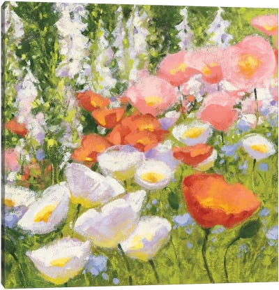 Garden Pastels II Canvas Art Print