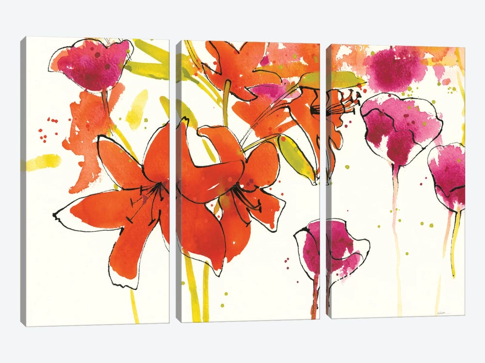Patty's Plum II by Shirley Novak 3-piece Canvas Art