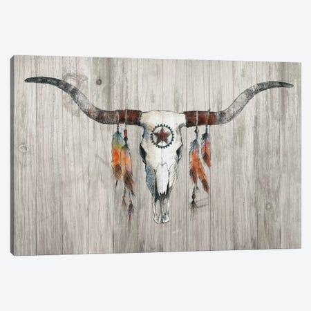Longhorn On Wood Canvas Print #WAC5948} by Avery Tillmon Canvas Print
