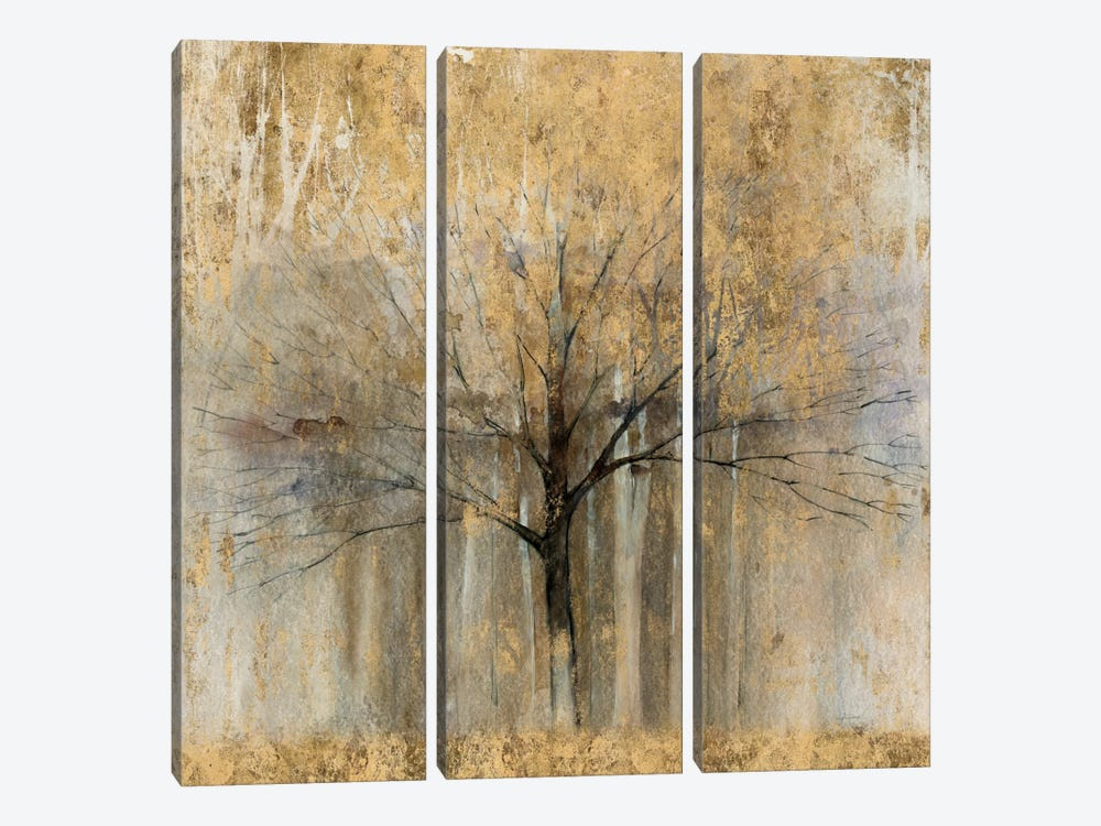 Open Arms Of Gold II by Avery Tillmon 3-piece Canvas Print