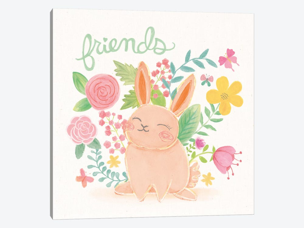 Garden Friends II by Mary Urban 1-piece Canvas Print