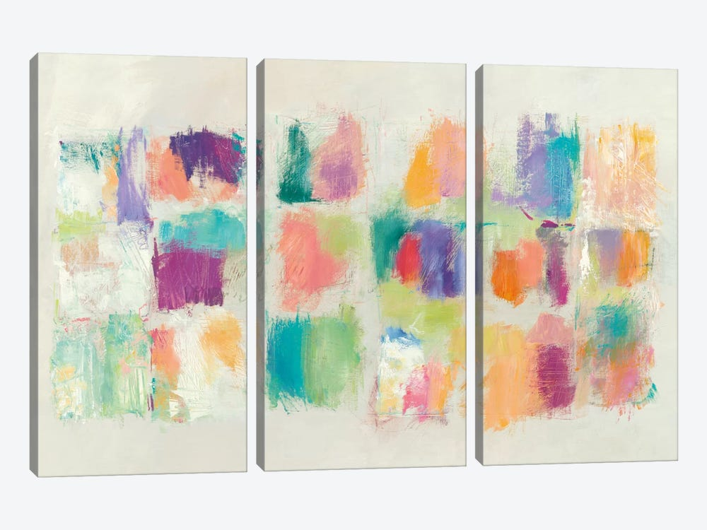 Popsicles by Mike Schick 3-piece Canvas Art Print