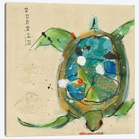 Chentes Turtle Canvas Print #WAC5972} by Kellie Day Canvas Artwork