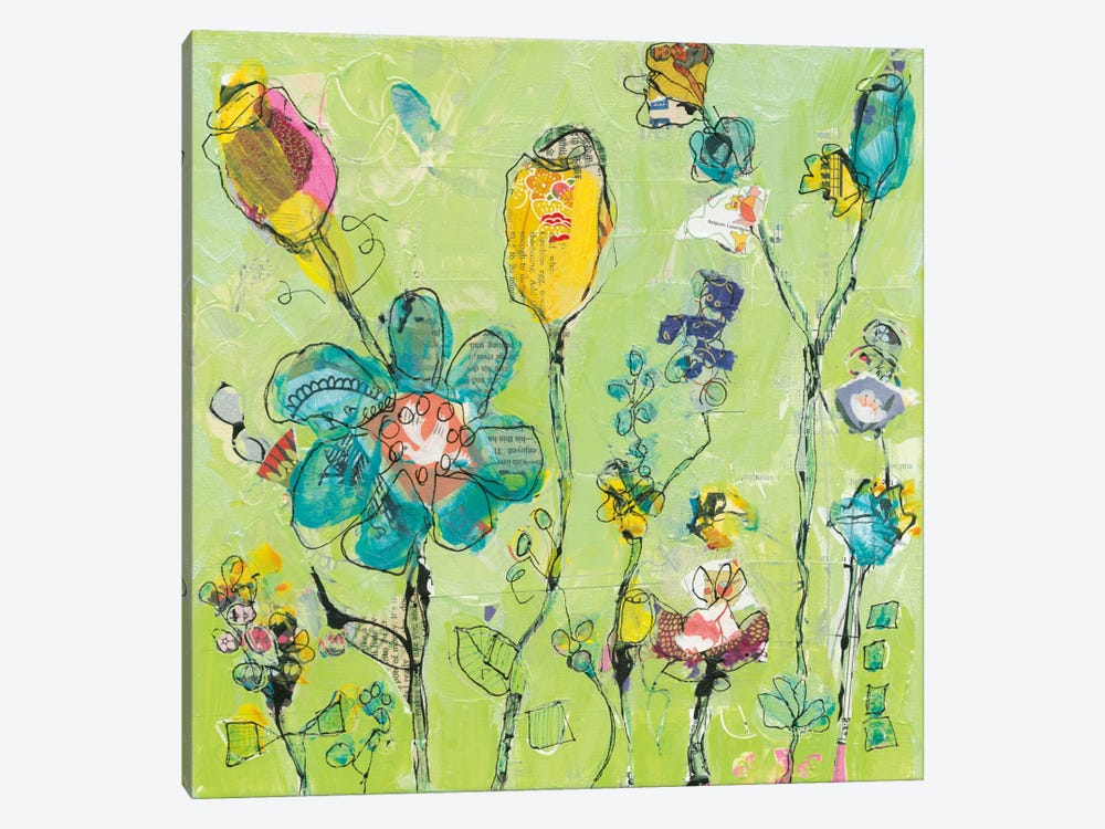 Doodle Garden by Kellie Day 1-piece Canvas Art