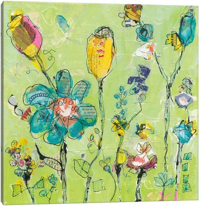 Doodle Garden Canvas Art Print