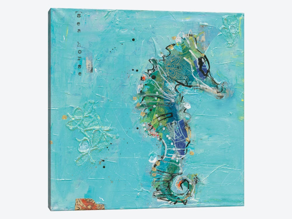 Little Seahorse by Kellie Day 1-piece Art Print