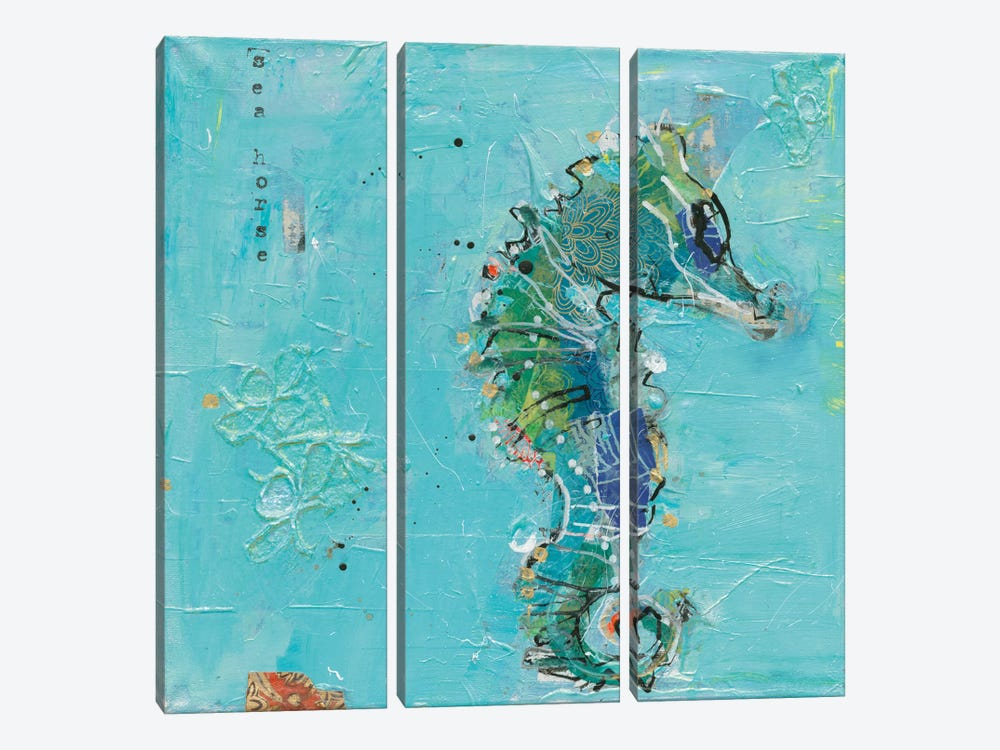 Little Seahorse by Kellie Day 3-piece Art Print