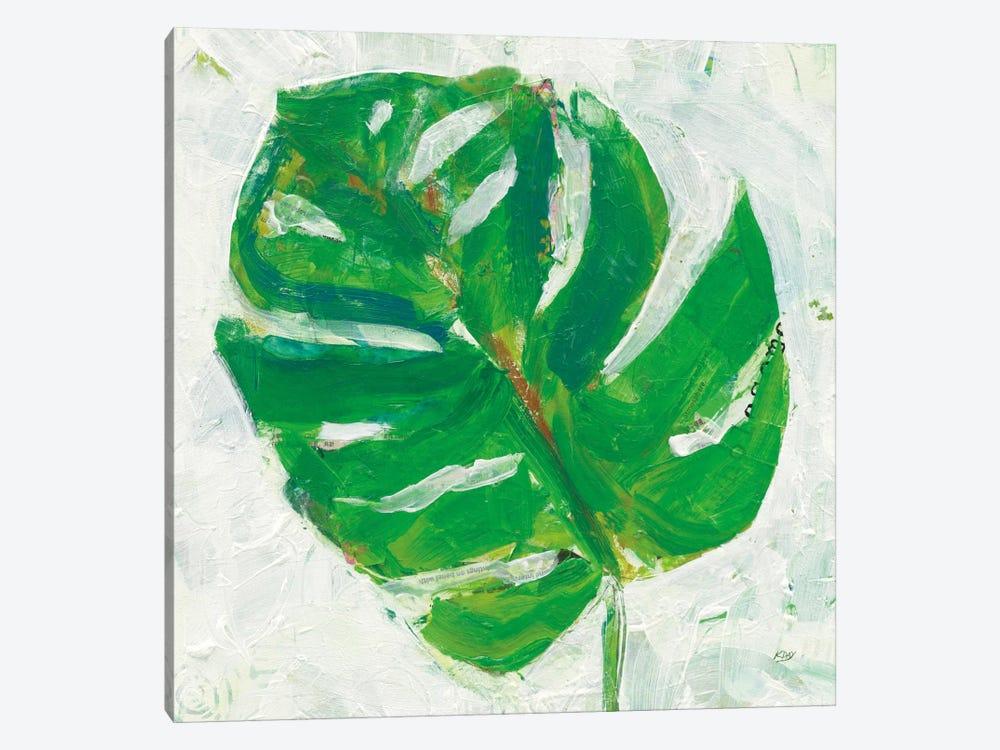 Single Leaf Play II by Kellie Day 1-piece Canvas Artwork