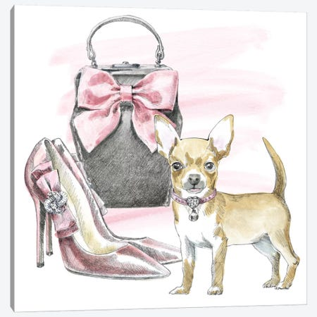 Glamour Pups I Canvas Print #WAC5979} by Beth Grove Canvas Wall Art