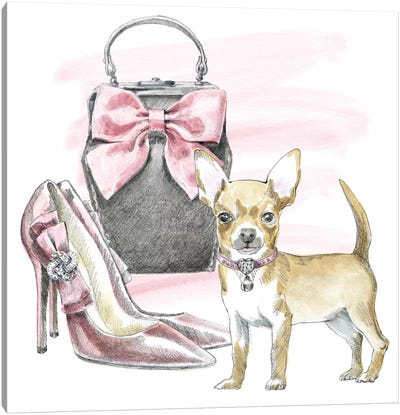Glamour Pups I Canvas Art Print