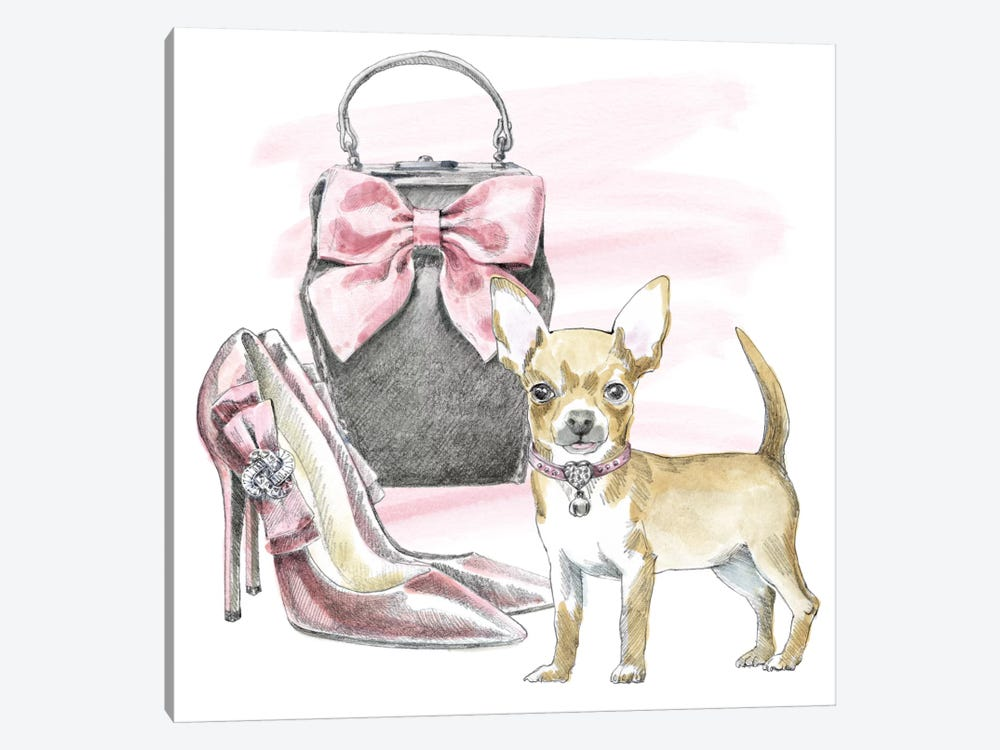 Glamour Pups I by Beth Grove 1-piece Canvas Art