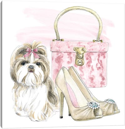 Glamour Pups II Canvas Art Print