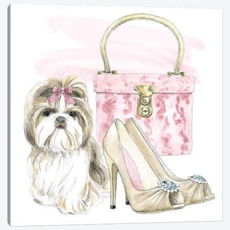 Glamour Pups II Canvas Print #WAC5980} by Beth Grove Art Print