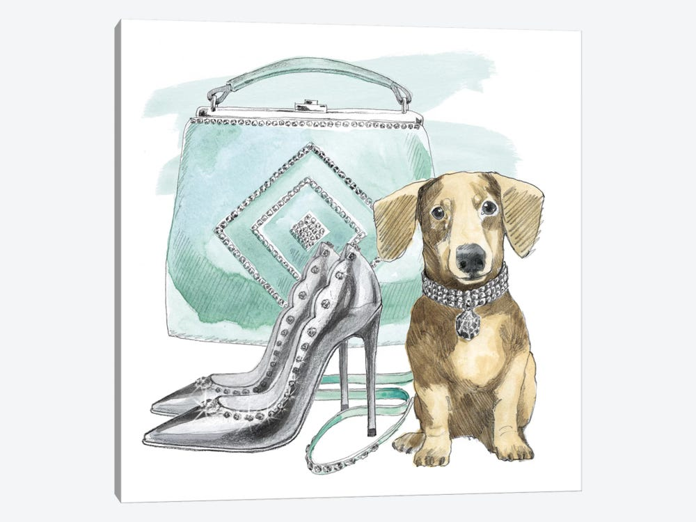 Glamour Pups III by Beth Grove 1-piece Canvas Print