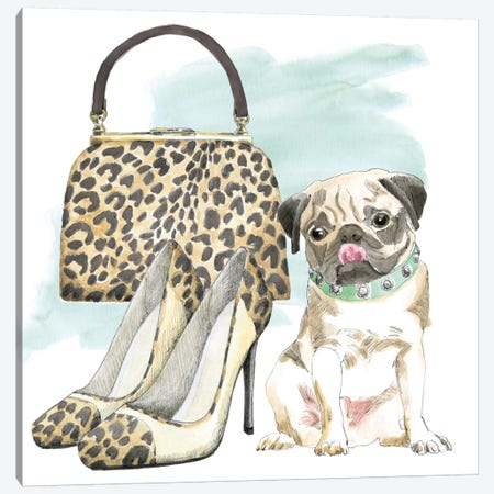Glamour Pups IV Canvas Print #WAC5982} by Beth Grove Art Print