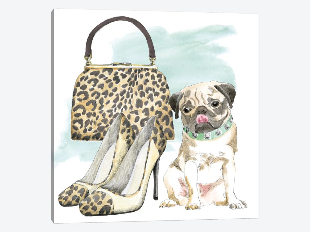 Glamour Pups IV by Beth Grove 1-piece Canvas Artwork