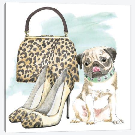 Glamour Pups IV Canvas Print #WAC5982} by Beth Grove Art Print