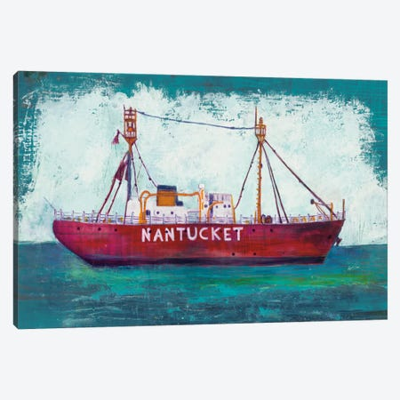 Nantucket Lightship Canvas Print #WAC5985} by Melissa Averinos Canvas Art