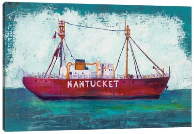 Nantucket Lightship Canvas Art Print
