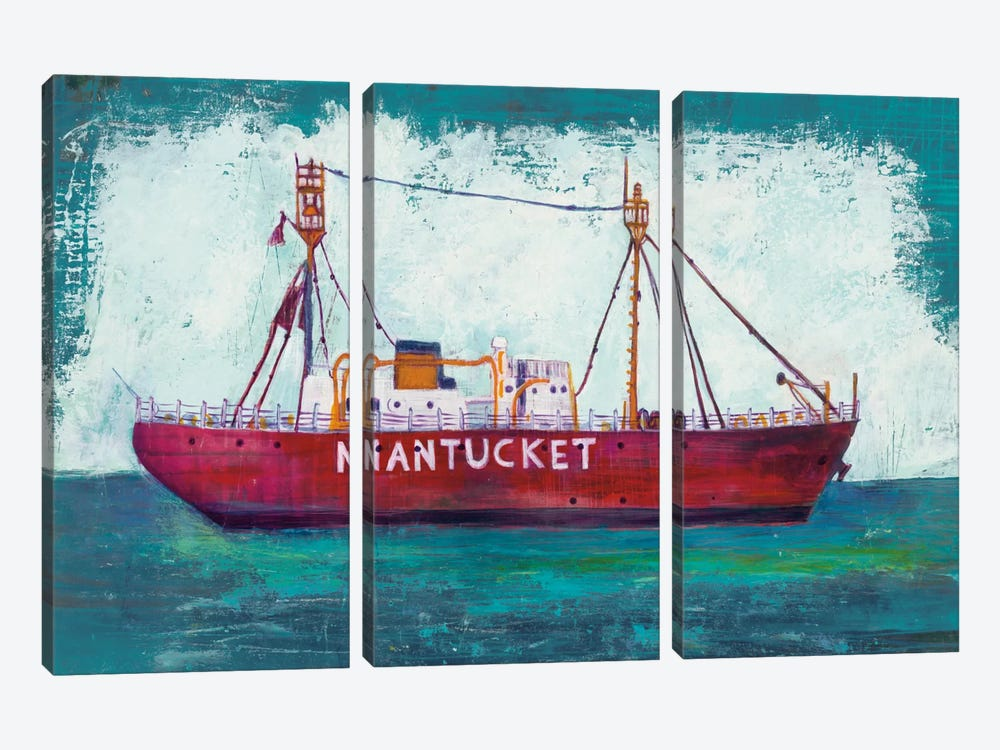 Nantucket Lightship by Melissa Averinos 3-piece Art Print