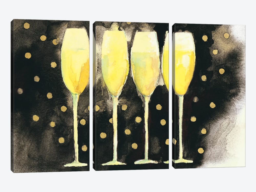 Bubbly Fun by Michael Clark 3-piece Canvas Art Print