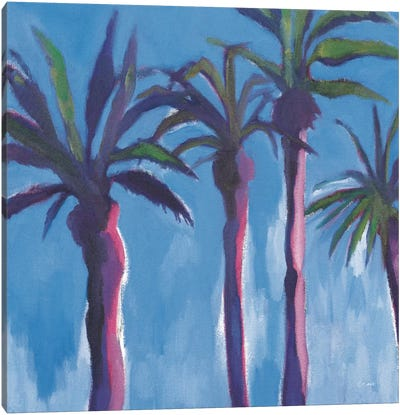 Moroccan Palm Trees Canvas Art Print