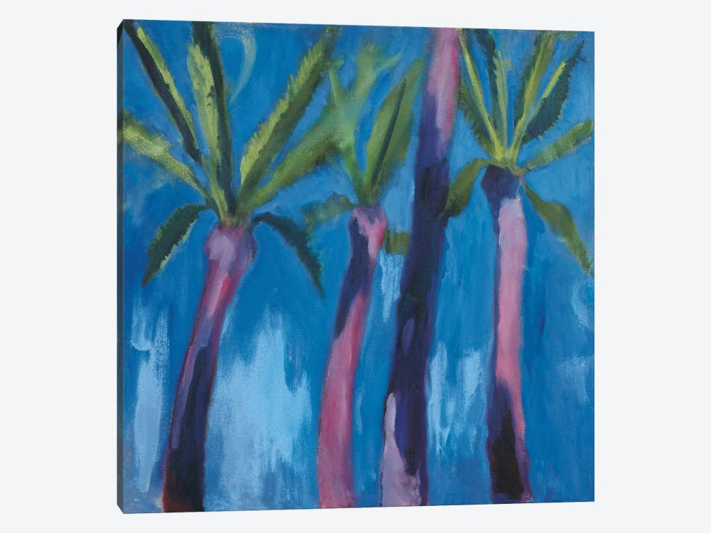 Palm Trees With Pink by Michael Clark 1-piece Canvas Artwork