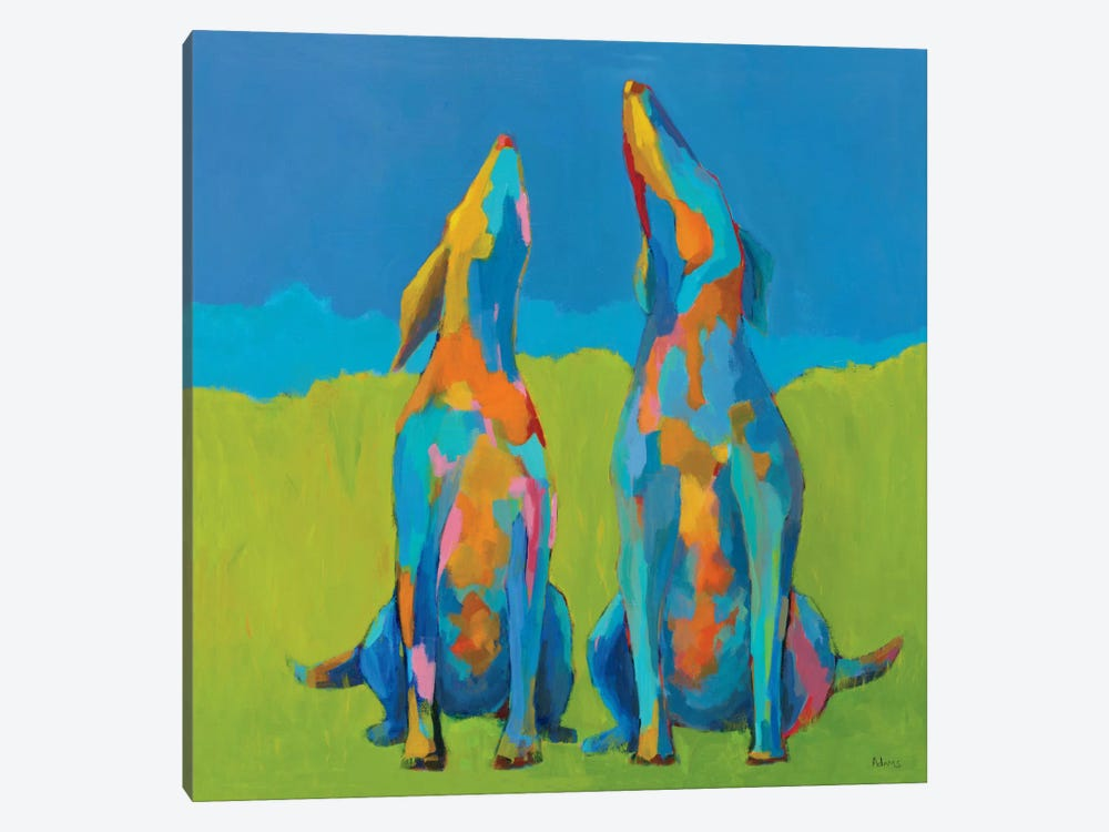 Howling Hounds by Phyllis Adams 1-piece Art Print