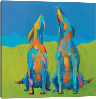 Howling Hounds Canvas Art Print