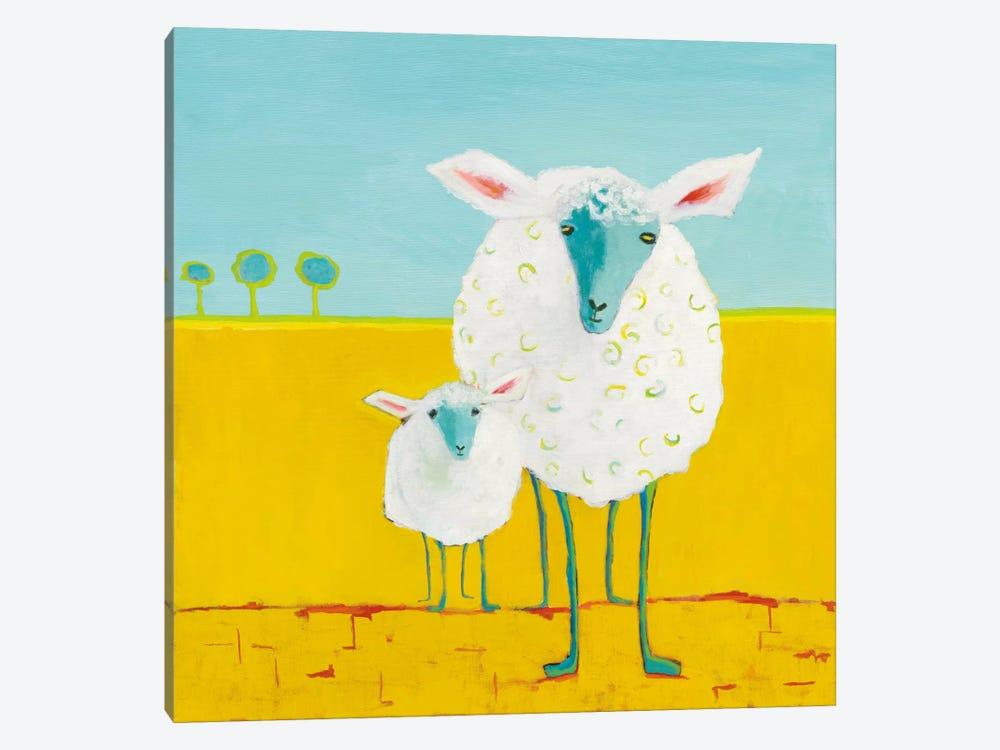 Mama & Baby Sheep by Phyllis Adams 1-piece Canvas Artwork