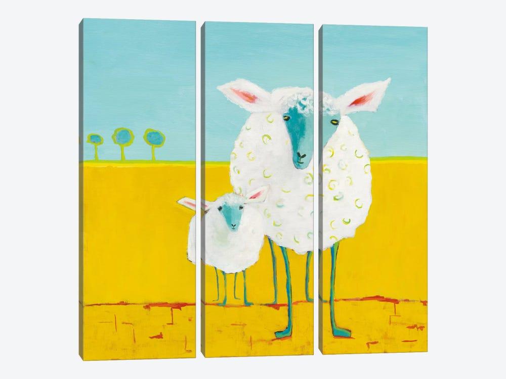 Mama & Baby Sheep by Phyllis Adams 3-piece Canvas Artwork